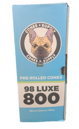 Cone Supply Bulk Pre Rolled Cones 98 millimeter White 800 per box