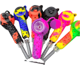 Silicone Honey Bee 2 in 1 Pipe/Nectar Collector Assorted Colors