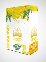 True Hemp - BANANA Organic Hemp Wraps 2 Wraps per Pouch 25 Pouches per Box