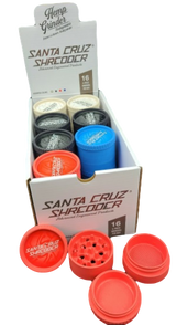 Santa Cruz Shredder - Hemp 4pc Grinder 52mm | Assorted Colors | 16 per POP display