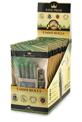 King Palm Mini Pre-Rolled Cone Display - 15 Packs Per Box, 5 Wraps Per Pack