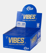 Vibes - Papers - King Size Slim - Rice (Blue) - 50 Booklets Per Box 33 Papers Per Booklet