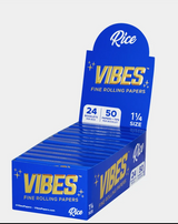Vibes - Papers with Filters - 1 1/4 - RICE - 24 Booklets Per Box 50 Papers and Tips Per Booklet