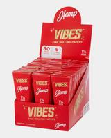 Vibes - Cones - Coffin - 1 1/4 - Hemp (Red) - 30 Boxes Per Display 6 Cones Per Box