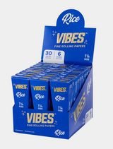 Vibes - Cones - Coffin - 1 1/4 - Rice (Blue) - 30 Boxes Per Display 6 Cones Per Box