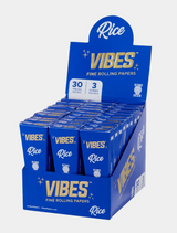 Vibes - Cones - Coffin - King Size - Rice (Blue) - 30 Boxes Per Display 3 Cones Per Box