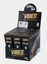 Vibes - Cones - Coffin - King Size - Ultra Thin (Black) - 30 Boxes Per Display 3 Cones Per Box
