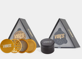 "Vibes X Aerospaced - Aluminum 4pc Grinder - 2.5"" (63mm) - Black"