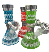 """5.5"""" Heavy Painted Beaker Bong   Assorted Colors   Comes with Flower Bowl"""