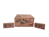 Zig Zag Wide Rolling Tips  50 Pack with Display Box