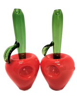 """7"""" Apple Hand Pipe that stands upright"""