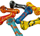 """2.5"""" Marble Glass Hand Pipe 