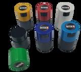 Tightpac - Solid TV0 Six Pack - 1x Dark Blue, 1x Light Blue, 1x Light Green, 1x Red, 1x Yellow, 1x White