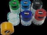 Tightpac - Clear Bottom/Colored Top TV1 Six Pack - 1x Black, 1x Dark Blue, 1x Light Blue, 1x Light Green, 1x Red, 1x Yellow