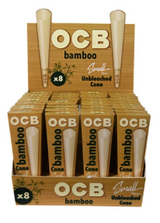 OCB Bamboo Cone 78 Small Pack 32 Packs of 8 Cones