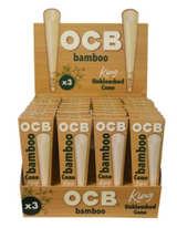 OCB Bamboo Cone King Size 3 Pack | 32 Packs