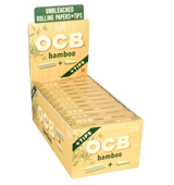 OCB Bamboo 1-1/4 + Tips Rolling Papers  - 24 ct