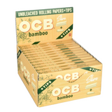 OCB Bamboo Rolling Papers with Tips King Slim - 24 ct.
