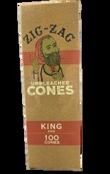 Zig Zag Mini Bulk King Sized Unbleached Pre-Rolled Cones