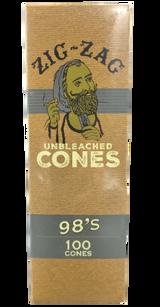 Zig Zag Mini Bulk 98mm Unbleached Pre-Rolled Cones | 100 Pack