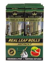 "King Palm ""SLIM"" WATERMELON Flavored Display - 20 Packs Per Box, 2 Wraps Per Pack"
