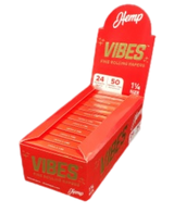 Vibes - Papers with Filters - 1 1/4 - HEMP - 24 Booklets Per Box 50 Papers and Tips Per Booklet