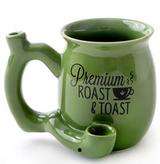 PREMIUM ROAST & TOAST SINGLE WALL MUG - GREEN WITH BLACK PRINT
