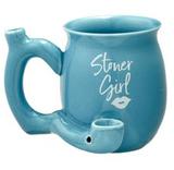 STONER GIRL BLUE WITH WHITE IMPRINT MUG - ROAST AND TOAST MUG