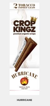 CROP KINGZ - HURRICANE  (Tropical Fruits and Rum) Self Sealing - Organic Hemp Wraps | 2 wraps per pouch | 15 Pouches per Box | Looks like a Tobacco Blunt, but made of Hemp