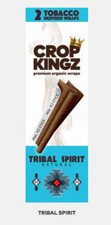 CROP KINGZ - TRIBAL SPIRIT (Natural) Self Sealing - Organic Hemp Wraps | 2 wraps per pouch | 15 Pouches per Box | Looks like a Tobacco Blunt, but made of Hemp
