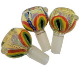 Glass on Glass | Fancy Rasta Flower Bowl | 14 Male * ELITE SERIES