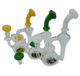 """8"""" Wig Wag Bottom Recycler Bong/Rig   Assorted Colors   Comes with Flower Bowl and Banger"""