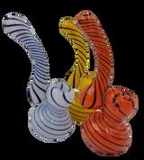 "6"" Striped Sherlock Bubbler | Assorted Colors"