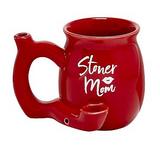 STONER MOM MUG - RED WITH WHITE LOGO