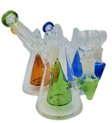 """8"""" Inner Colored Cone Hanger Bong/Rig   Assorted Colors   Comes with Flower Bowl"""