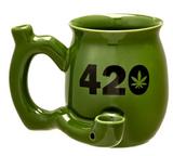 420 MUG GREEN with BLACK INPRINT MUG - ROAST AND TOAST MUG
