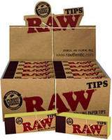 RAW HEMP and COTTON PERFORATED TIPS 50 pack of 50 Tips Retail Display