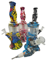 """9"""" Silicone with glass Straight Bong/Rig 
