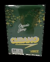 Vibes - Cubano Cones - King Size - Organic Hemp 24 Packs Per Box 1 Cone Per Pack