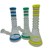 """10"""" Ripple Necked Colored Beaker Bong/Water Pipe 