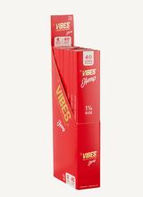 "VIBES - 1.25"" Size Cones - Single Pack 40 Cone - 8 Packs Per Display - Hemp"