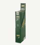 "VIBES - 1.25"" Size Cones - Single Pack 40 Cone - 8 Packs Per Display - Organic Hemp (green)"