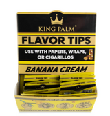 King Palm Flavored Corn Husk Filter Tips 2pk Pouch 50ct Counter Display - Banana Cream