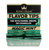 King Palm Flavored Corn Husk Filter Tips 2pk Pouch 50ct Counter Display - Magic Mint