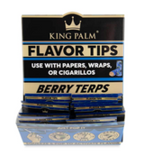 King Palm Flavored Corn Husk Filter Tips 2pk Pouch 50ct Counter Display - Berry Terps