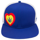 """Custom Trucker Snapback Hats from LuvBuds. Get any type of logo, color, and even fastening mechanism you desire custom made for your company.  We have made some of the coolest hats on earth for customers of ours, let us make one for you!.  Minimums are reasonable, contact us at info@LuvBuds.co for more information, simply write """"CUSTOM HATS""""in the subject line!"""