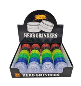 40 millimeter 2 Piece Magnetic Acrylic Grinder 24 pack Retail Display