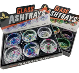 Glass Ash Tray 6 count Display