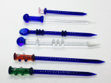 "6"" Assorted Color Glass Dabber - Dab Tool"