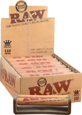 Raw 110 millimeter Rolling Machine 12 pack Retail Packaging